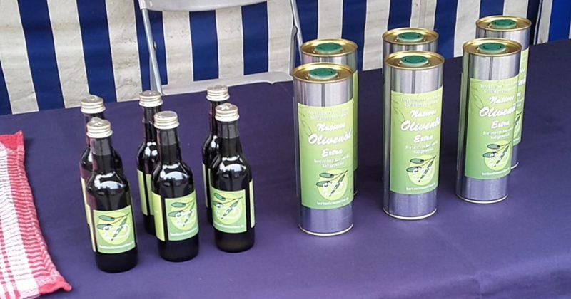 Έξτρα παρθένο ελαιόλαδο από τη νότια Λακωνία, κάθε Σάββατο στο Bauernmarkt στη Seelower Strasse στο Prenzlauer Berg